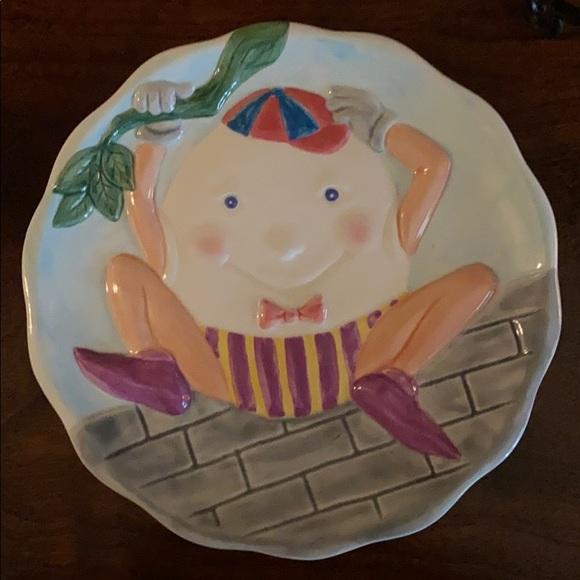 Fitz and Floyd Omnibus Humpty Dumpty Plate